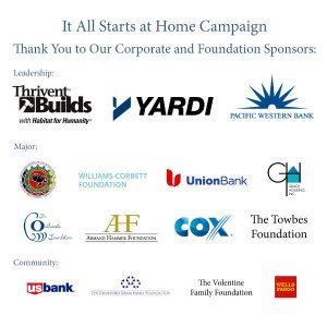 Habitat for Humanity Santa Barbara Campaign Sponsors