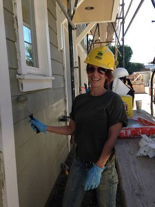 Habitat for Humanity home construction volunteer